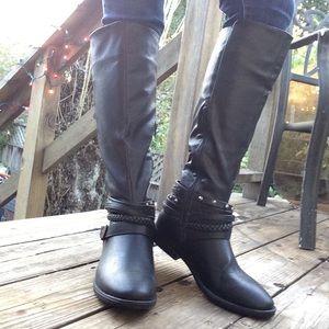 NWOT Women's Black Riding Boots